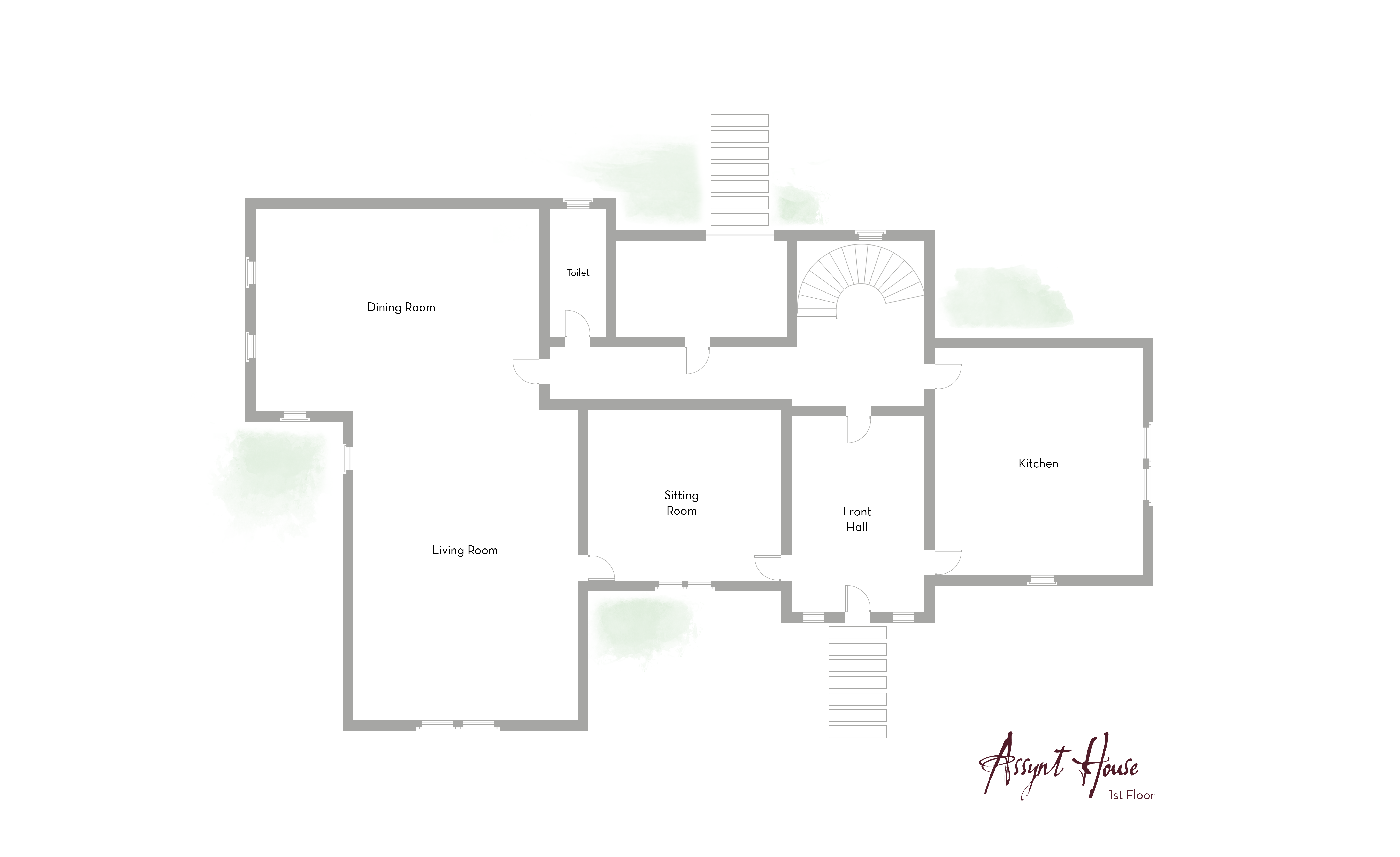 Assynt house large country house for rent in scotland for Floor plan assistance