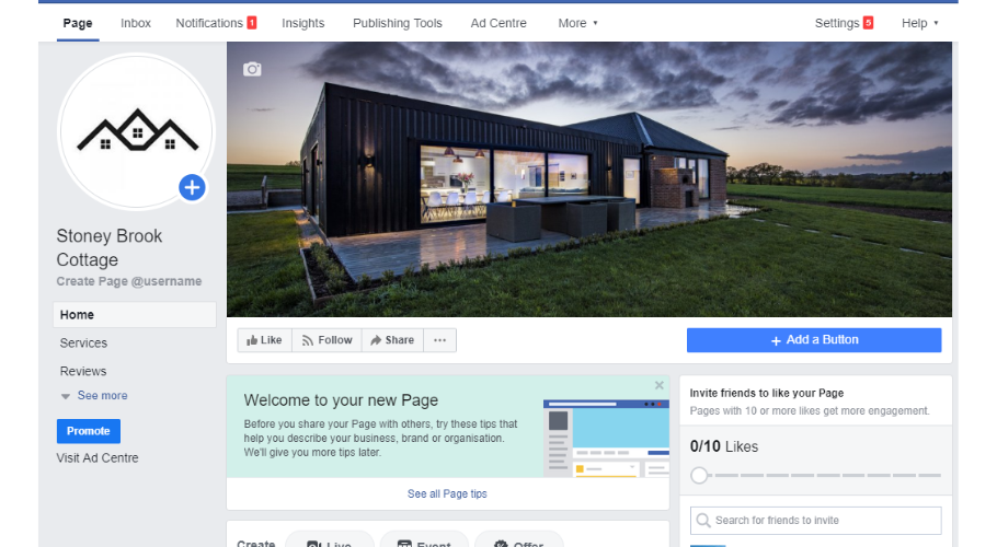 Review your Facebook for business page