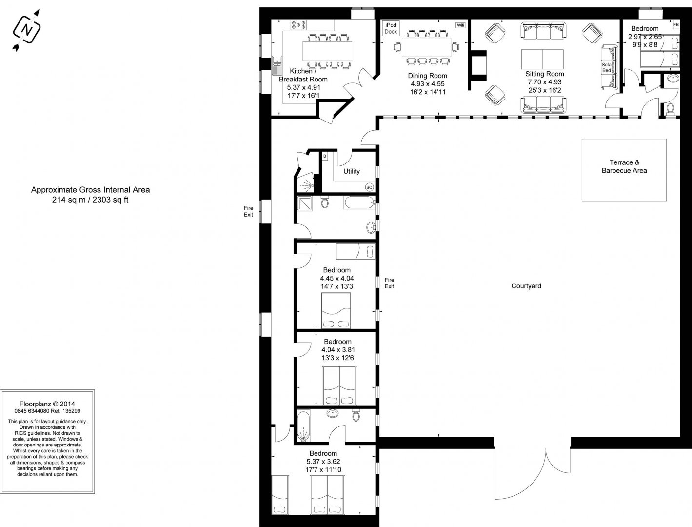 Rose Hall Floor Plan