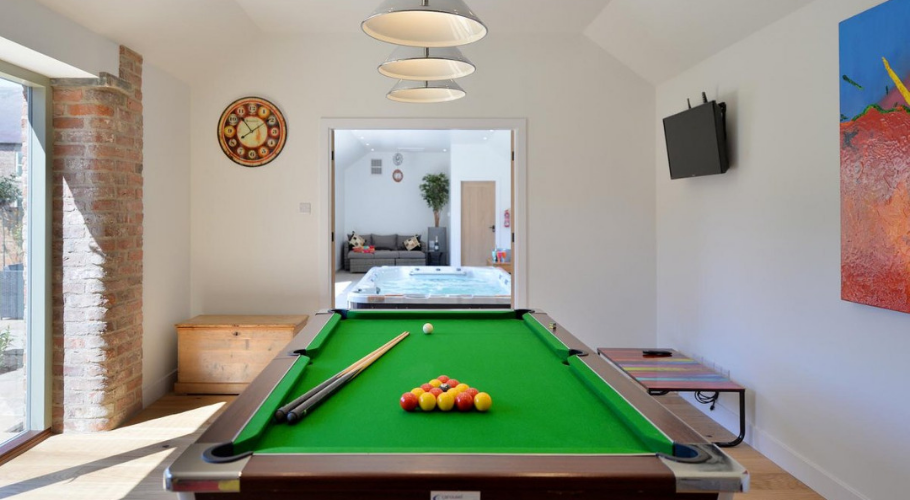 games room in holiday property