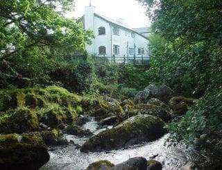 Rear of Glan Dwr Mountain Lodge