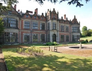 North Front of the house with formal garden
