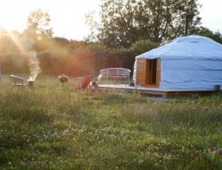 One of our four Mongolian Yurts