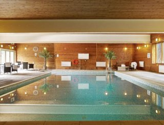 Magnificient 40' Indoor swimming pool, and sauna.