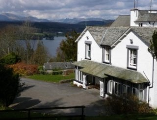 Ghyll Head with Windermere beyond.