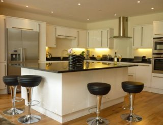 Modern kitchen and large Island