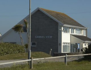 Gannel View on headland with sea & country views.