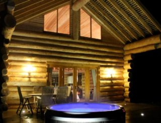 Luxury log cabin wedding venue