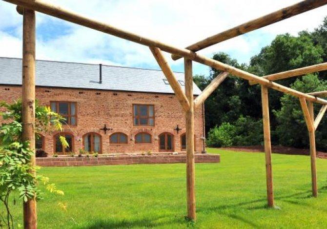 View across the lawn at the Granary