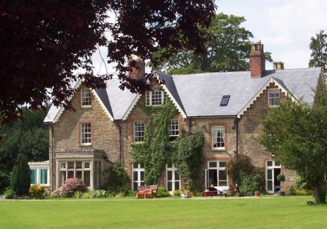 Side of house across lawn
