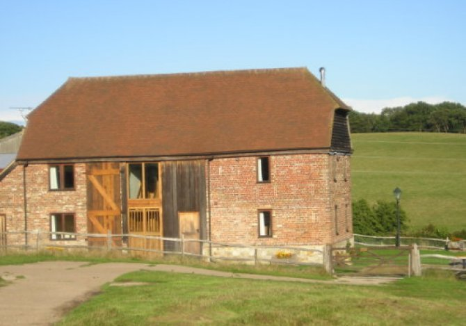Front elevation of Cannon Barn