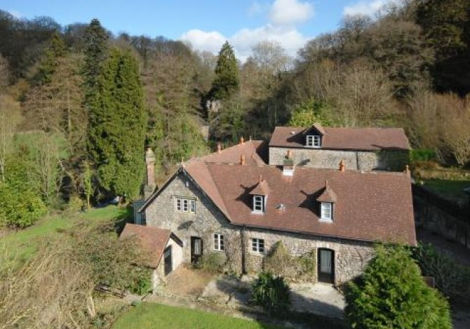 Aerial View of Coach House and Cottages
