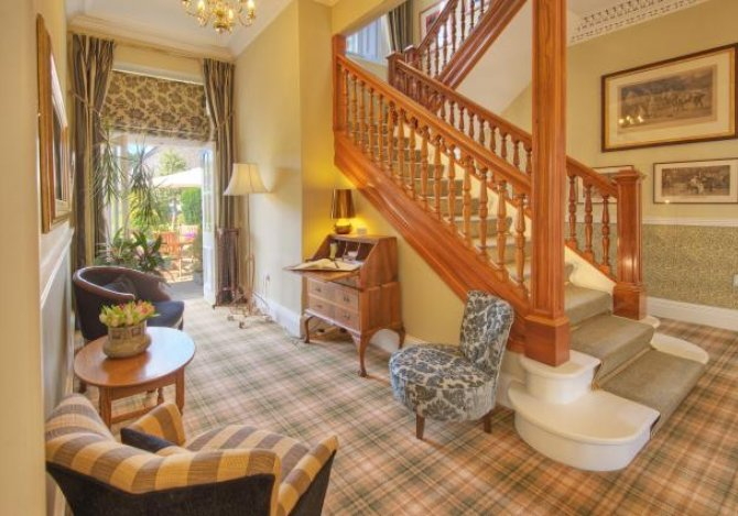 Stunning reception area with access to garden
