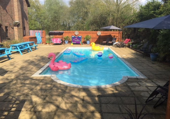Large party house with a swimming pool bournemouth - Dorset holiday cottages with swimming pool ...