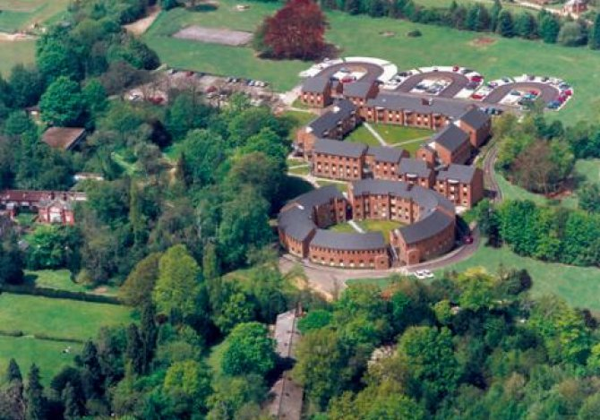Newland Park from the air
