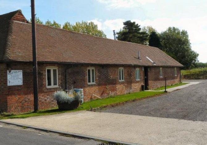 Palace Farm Hostel entrance and car park