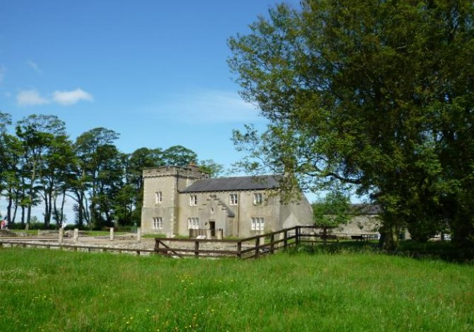 Birdoswald Farmhouse and remains of the Fort