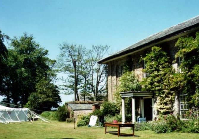 The Old Rectory and our splendid Indian marquee