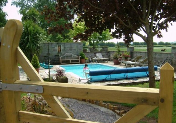 Exercise or play in the heated outdoor pool