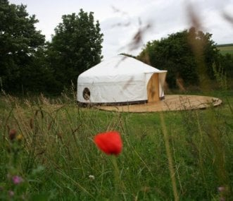 18ft Yurts well spaced apart in our 5 acre field
