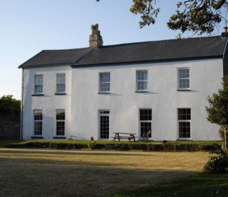 The Main House on the right, Mailscot cottage left