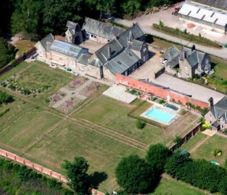 Arial view of The Colloquy & other properties