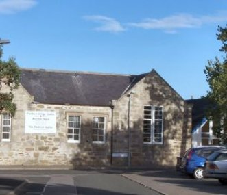 Front View of the Findhorn Village Centre & Hostel