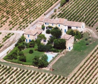Aerial shot of Mas du Martinet