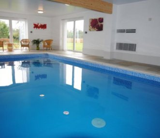 Stunning heated pool, which is exclusively yours