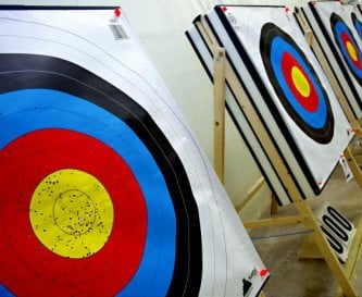 Indoor archery lessons available