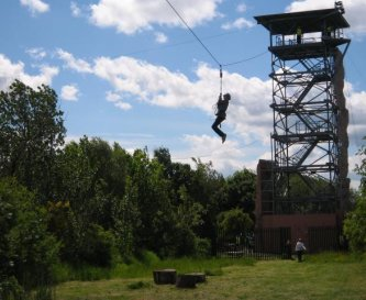 Events Tower Zip Wire, Climbing and Fan Decender