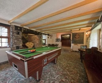 Games room and bar at far end