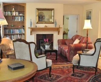 One of the reception rooms at Honeymead Farmhouse