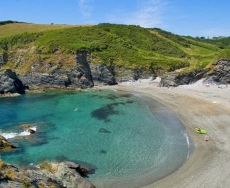 Unspoilt Lansallos Cove is a short walk away