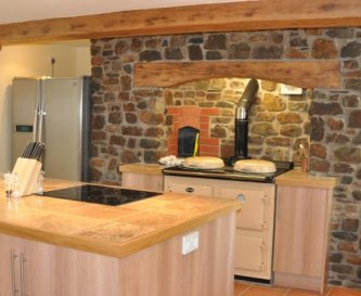 The kitchen at Honeymead Farmhouse
