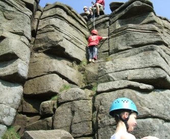 Climbing at local crags