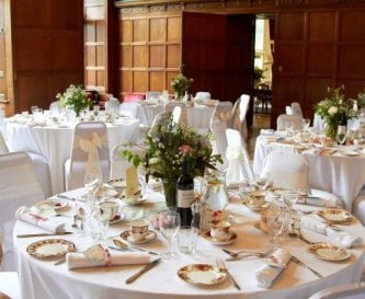 Great Hall - tables dressed for guests