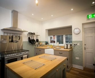 One of two well equipped fitted kitchens