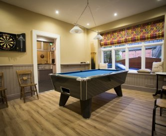 Games room- pool table, darts and table football