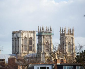 The view from room 14.  York Minster - 7 min walk