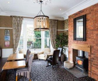 Lounge bar with wood burner