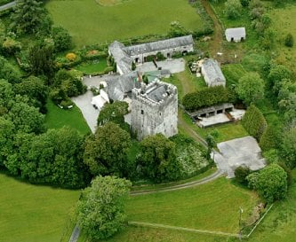 Aerial view of the Castle and Guesthouse