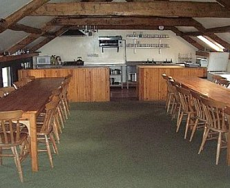 Kitchen & Dining area in the Main Bunk house