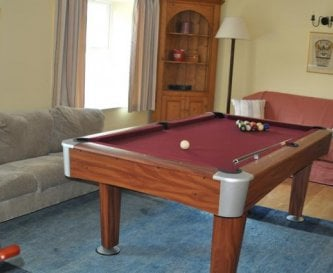 The games room at Honeymead Farmhouse