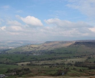 View from White Hall to Kinder Scout