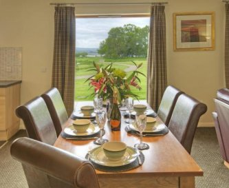 Dining area and view over private grounds
