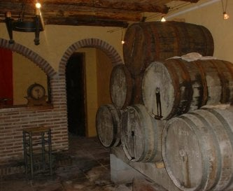 Our Bodega where we keep the moscatel wine we make