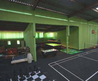 Huge, well equipped games barn