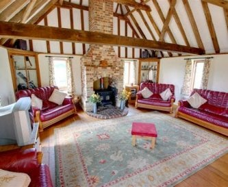 Sitting Room with lovely views and vaulted ceiling