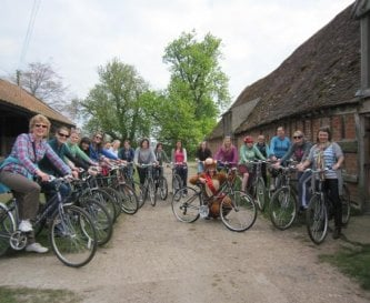 Borrow our 20 bikes and explore our planned routes